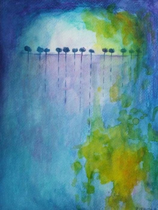 Drzewa-akwarela