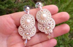 Kolczyki  sutasz Kremowe z perłami SEA SHELL