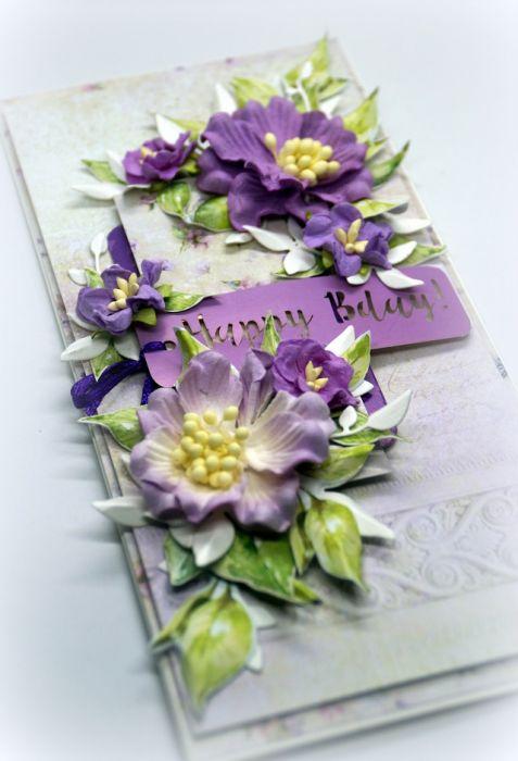 Kartka z napisem Happy Bday