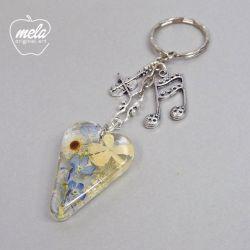 0569~mela- Brelok do kluczy, torebki serce