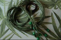 kwietnik makrama juta zielony boho