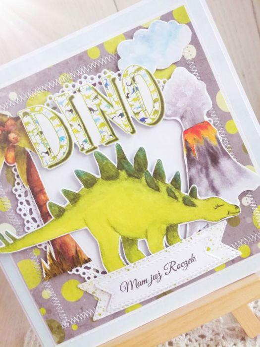 Kartka urodzinowa z Dinozaurem 3 GOTOWA