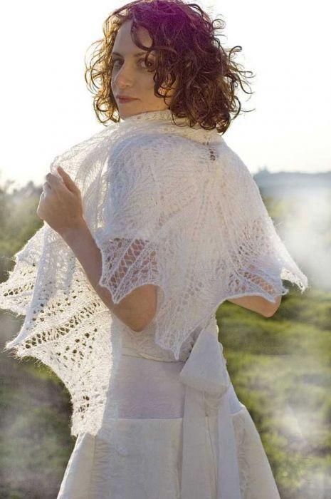Sliczna biała duża chusta! CUDO!!!