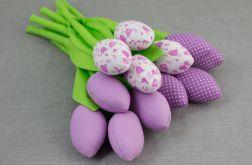 Tulipany, kwiaty z materiału liliowe
