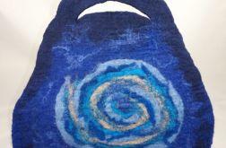 Torebka filcowana ręcznie niebieska