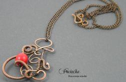 Red ornament - naszyjnik z wisiorem