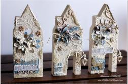 Świąteczny domek #4 z drewna