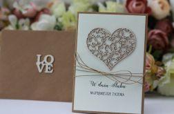 Stylowa kartka ślubna z kopertą 2