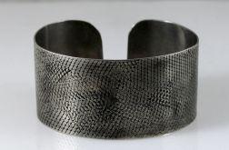 Metalowa bransoleta II - wężowa