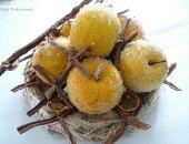 Żółte jabłka z plastrami pomarańczy - odsłona druga