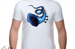 Niebieska trąbka - t-shirt męski - kolory