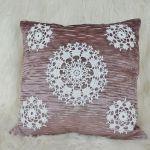 Poszewka szydełkowa dekoracyjna - poduszka dekoracyjna