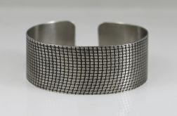 Metalowa bransoleta - kratka drobna