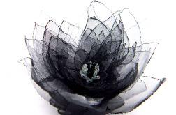 Broszka kwiat - lilia czarna 10 cm