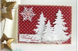 Kartka świąteczna z choinkami