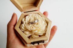 Rustykalne pudełeczko na pierścionek