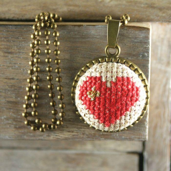 Duże serce naszyjnik - serce