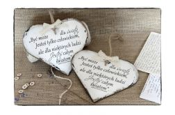 Szyld MOTTO Serce ~O miłości~ G.G.Marquez