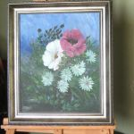Obraz - Róże - malowane akrylem