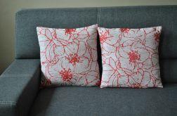 Poszewka dekoracyjna - czerwone hibiskusy