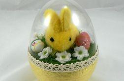Jajko 3D z żółtym królikiem