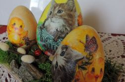 Kocie jaja z wiecznym mchem chrobotkiem