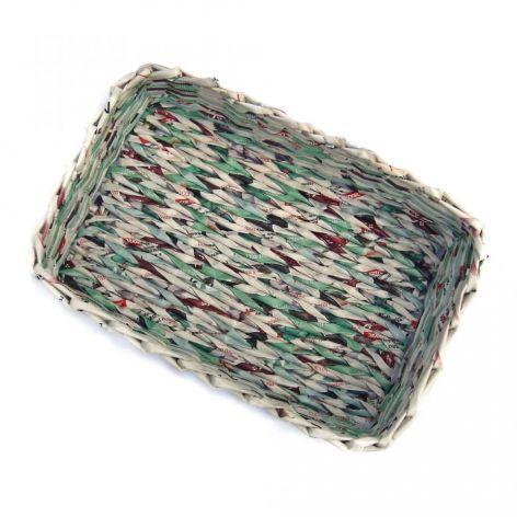 Koszyk prostokątny z turkusem