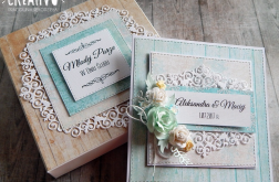 Turkusowa kartka na ślub