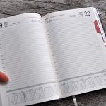 Kalendarz książkowy A5 układ dzienny 2020 #17