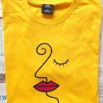 Koszulka ręcznie malowana unikat żółta