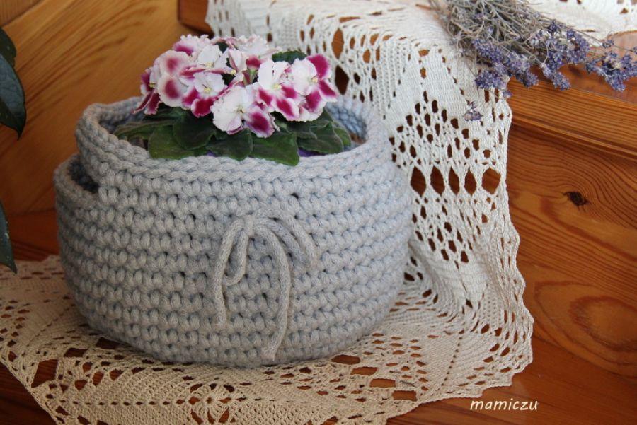 Koszyk bawełniany (popielaty)