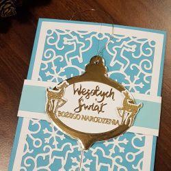 Kartka bożonarodzeniowa z zawieszką KH2012008