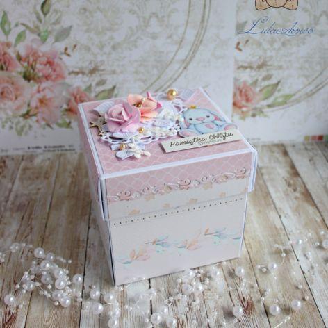 Exploding box chrzest roczek Baby Boom GOTOWY
