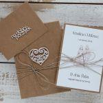 Oryginalna kartka ślubna i pudełko 12a - rustykalna kartka na ślub