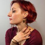 Zawijasy - mosiężny pierścionek 200112-05 - Mosiężna biżuteria