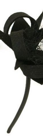 Fascynator czarny delikatny