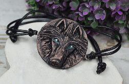 Bransoletka wilk w odcieniach brązu