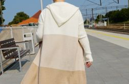 Sweter damski tricolor