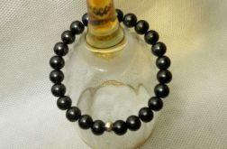 161. Bransoleta z pereł szklanych 8mm