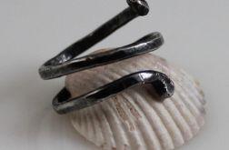 Zakręcony - srebrny pierścionek 2