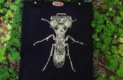 Insektofon - czarna torba bawełniana