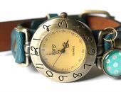 Zegarek MORSKI BŁĘKIT z grafiką
