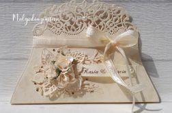 Kartka torebka ślubna gratulacyjna
