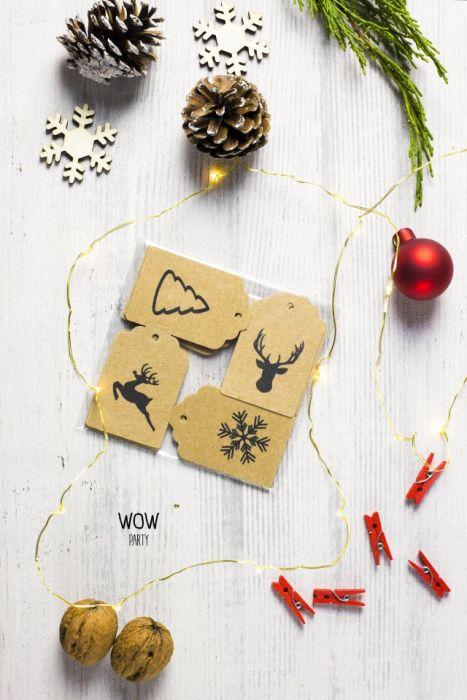 Etykietki do pakowania prezentów