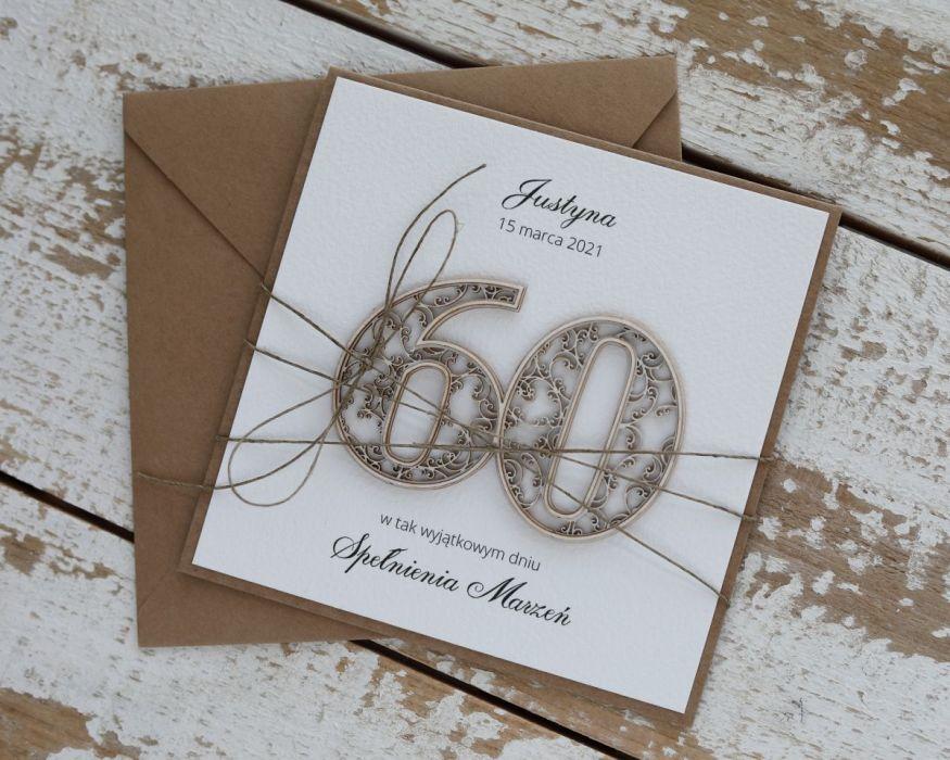 Kartka na 60 urodziny
