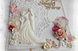 Kartka ślubna w pudełku z Parą Młodą