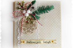 Kartka świąteczna z bombką