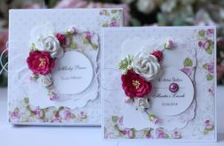 Kartka z pudełkiem - ślub kwiaty 4
