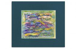 Podwodny świat-akwarela obrazek malowany
