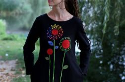 Sukienka taliowana DZIEŃ DOBRY czarna